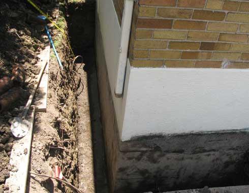 Exterior Basement Wall Waterproofing Process
