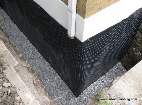 basement wall waterproofing exterior wall in toronto and gta rh a to zplumbing com types of basement waterproofing materials buy basement waterproofing materials