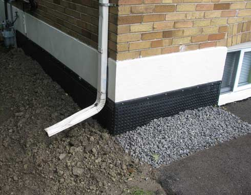 Basement wall waterproofing exterior wall in toronto and gta Materials for exterior walls
